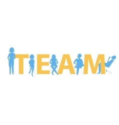 Team text concept vector image