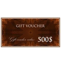 Template design of gift voucher or certificate vector