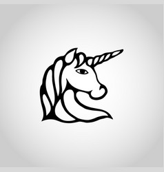 unicorn isolated on white background vector image