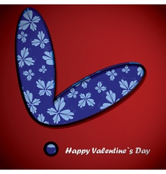 Valentine day heart with butterflies vector