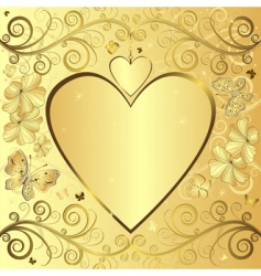 valentine elegant golden background vector image