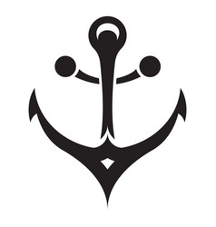 vessel anchor icon simple style vector image