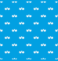 wedding doves heart pattern seamless blue vector image