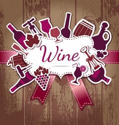 Wine kitchen vector