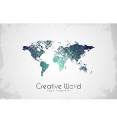 World map logo creative world design creative vector