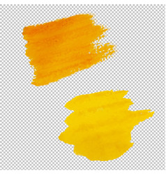 yellow blots isolated transparent background vector image