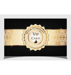 Black creative vip card vector image vector image