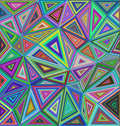 Colorful irregular triangle mosaic background vector