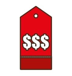 price tag shop symbol icon design vector image
