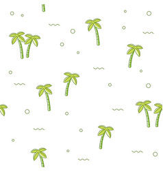 seamless pattern palm tree vector image vector image