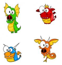 cartoon dragons vector image vector image