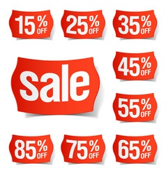 discount price tags vector image vector image