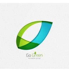 Eco nature leaf go green environmental concept vector image