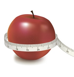 red apple measured the meter vector image