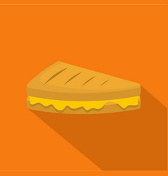 sandwich icon flat style vector image vector image