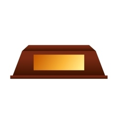 trophy gold award icon vector image