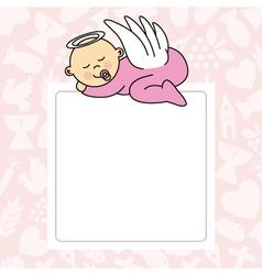 Baby girl sleeping vector