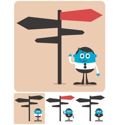 Choice and Direction vector image vector image