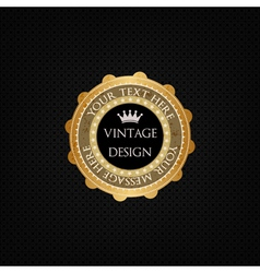 Decorative background and golden badge vector image vector image
