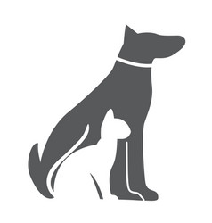 pet dog and cat icon material for design vector image vector image