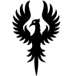 phoenix cartoon vector image vector image