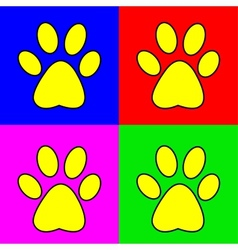 Set of of pug marks signs vector image vector image