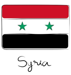 Syria flag doodle vector image vector image