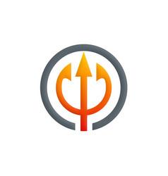 Abstract three arrow hub logo vector