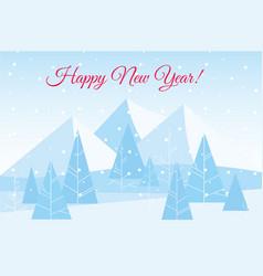 beautiful chrismas winter vector image vector image