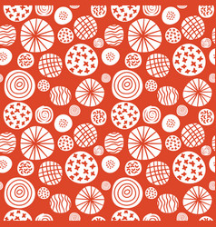 big polka dot red sketch pattern vector image vector image