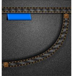 Black jeans pocket vector image