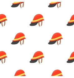 Firefighter Helmet icon cartoon pattern vector image