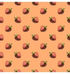Fresh Strawberry Fruit Seamless Pattern vector image
