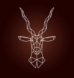 Antelope in geometric style vector