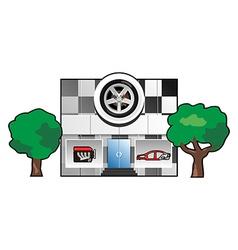 auto factory vector image