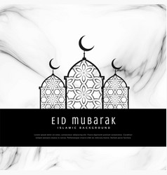 Awesome eid festival greeting card design vector