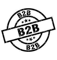 B2b round grunge black stamp vector