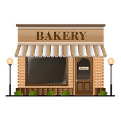 Bakery facade vector