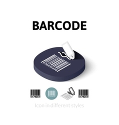Barcode icon in different style vector