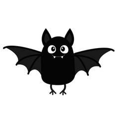 bat vampire happy halloween cute cartoon baby vector image