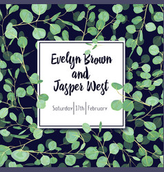 beautiful postcard invitation banner with green vector image