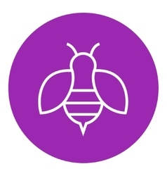 Bee line icon vector