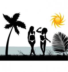 bikini woman vector image