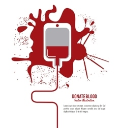 Blood design Health care icon Colorful vector image vector image