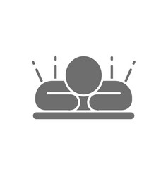 Body acupuncture massage grey icon isolated vector