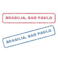 Brasilia sao paulo textile stamps vector