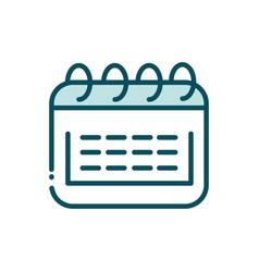 Calendar reminder date social media line and fill vector