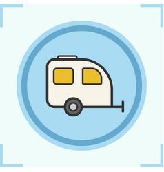 camping trailer color icon vector image