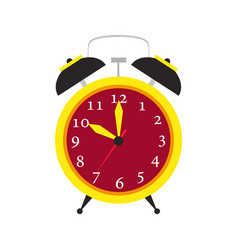 clock alarm icon time isolated wake up background vector image