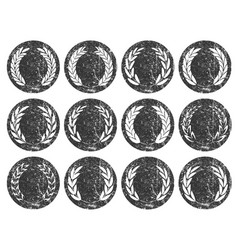 collection different grunge stamp silhouette vector image
